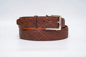 Chestnut Elephant 40MM Belt - No Stitch and Chestnut Edge