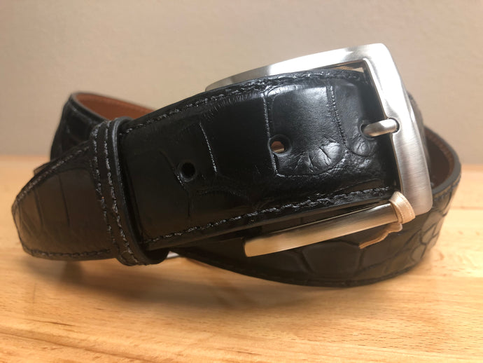 American Alligator - 40mm Belt - Black
