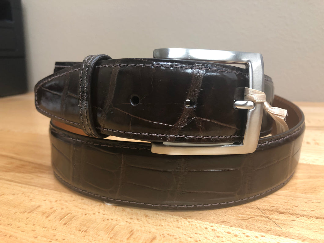 American Alligator - 40mm Belt - Brown