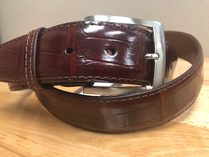 American Alligator - 40mm Belt - Dark Cognac
