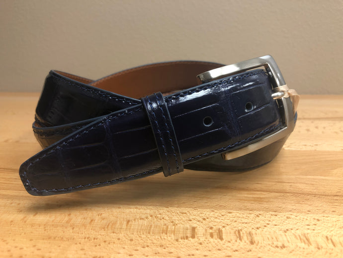 American Alligator - 40mm Belt - Navy