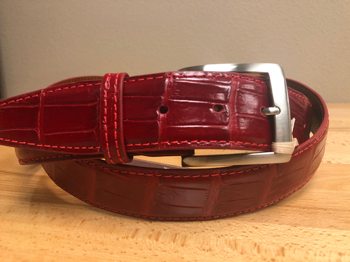 American Alligator - 40mm Belt - Red