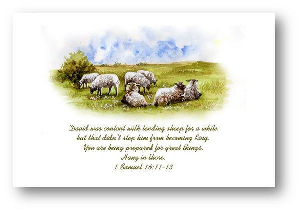 Christian Inspirational Card- David