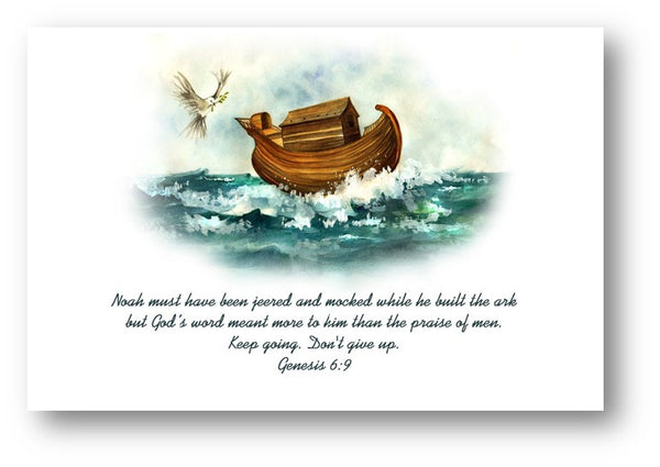 Christian Inspirational Card- Noah