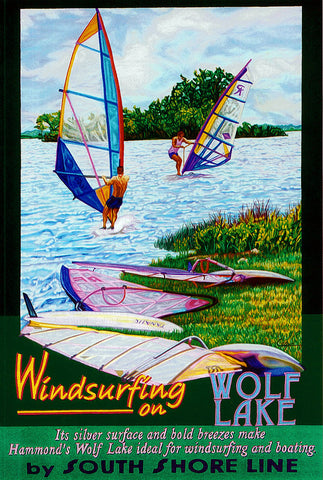 Windsurfing on Wolf Lake