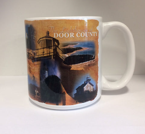 Lighthouse Collage Mug