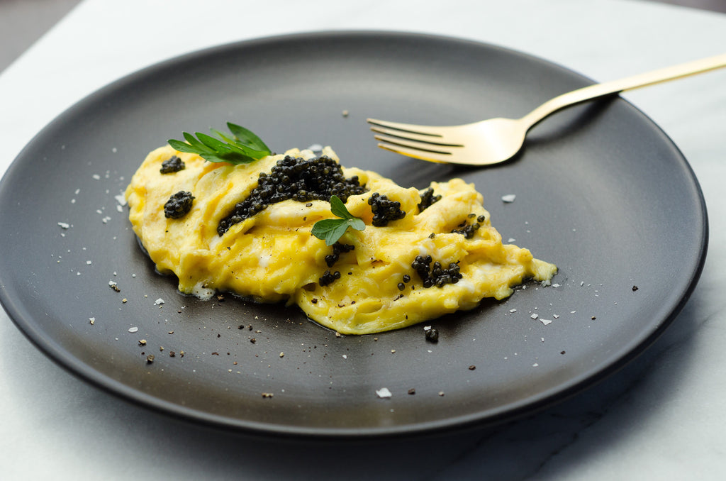 20 Second Caviar Scrambled Eggs