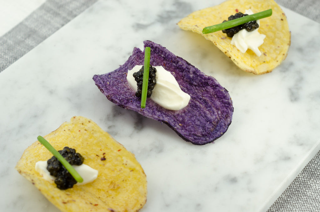 Creme Fraiche and Caviar Appetizers