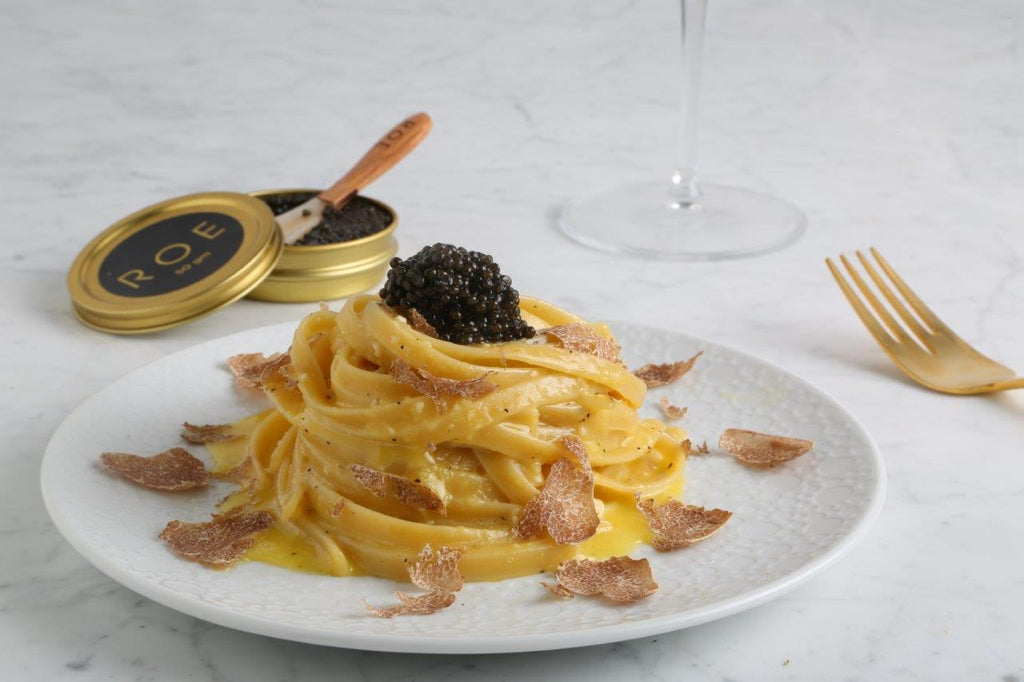 "Fettuccine ""Carbonara"" with Urbani White Truffle"