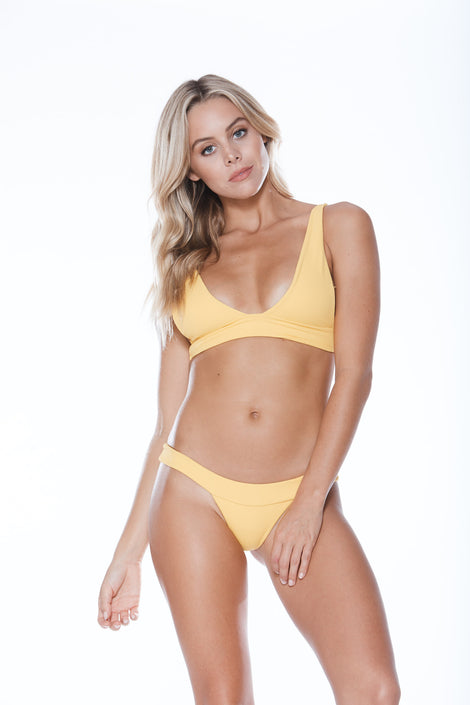 Banned Top - Yellow Rib