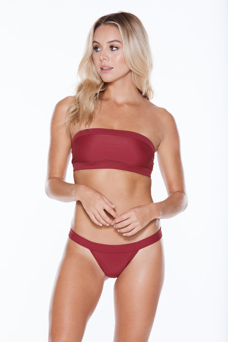 Bubbles Top - Burgundy Rib