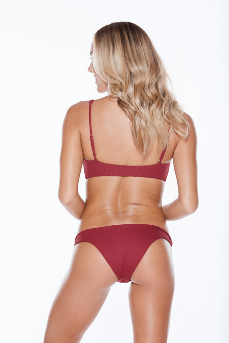 Knotty FC Bottom - Burgundy Rib