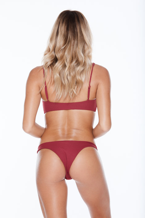 Knotty Bottom - Burgundy Rib