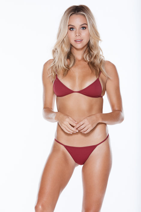 Low Tide Top - Burgundy Rib