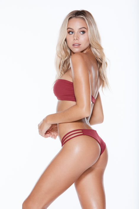 Knotty Top - Burgundy Rib