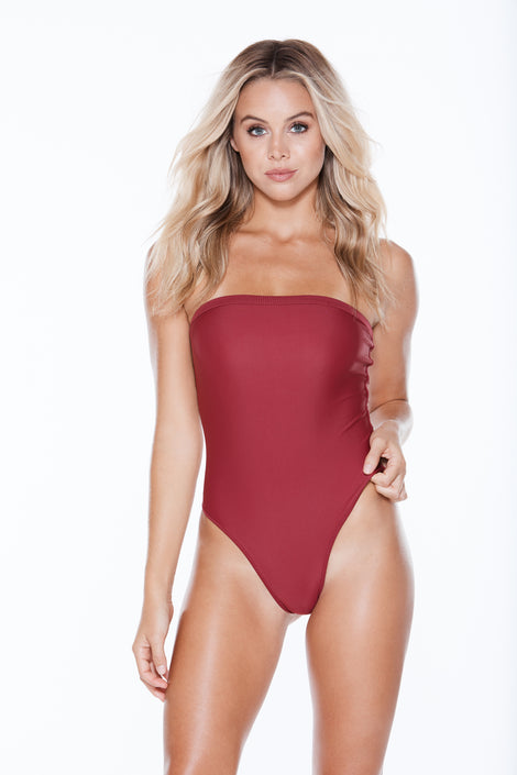 Sweets One Piece - Burgundy Rib