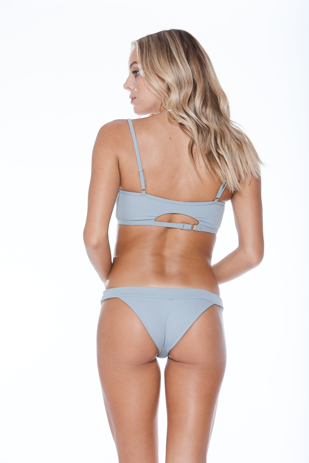 Banned FC  Bottom - Grey Grey Rib