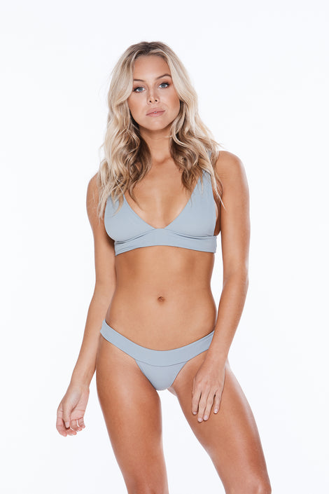 Camilla Bottom - Grey Grey Rib