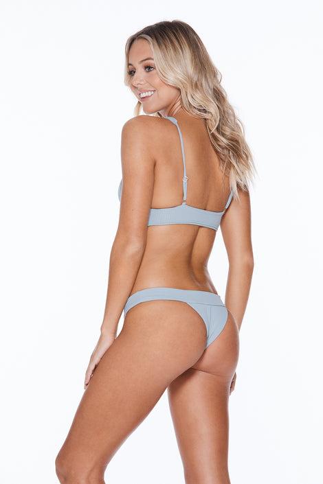 Banned Bottom - Grey Grey Rib