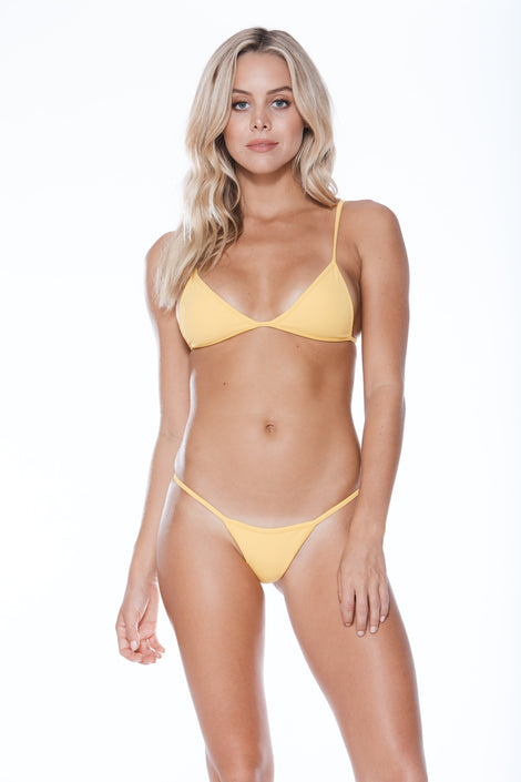 Low Tide Top - Yellow Rib