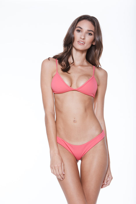 Low Tide Top - Shocking Pink Rib