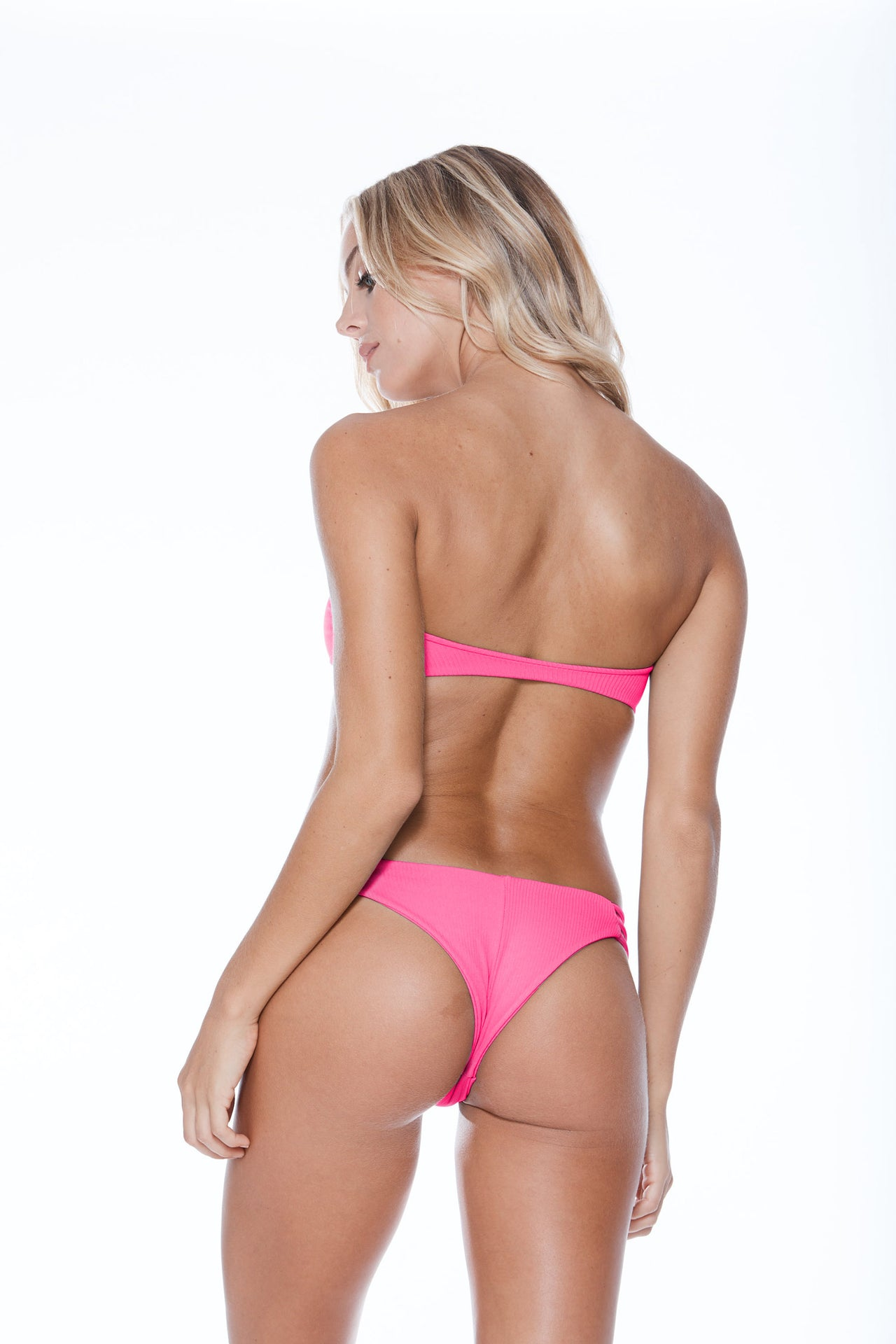 Luna Top - Shocking Pink Rib
