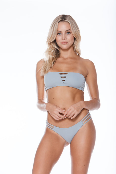 Luna Top - Grey Grey Rib