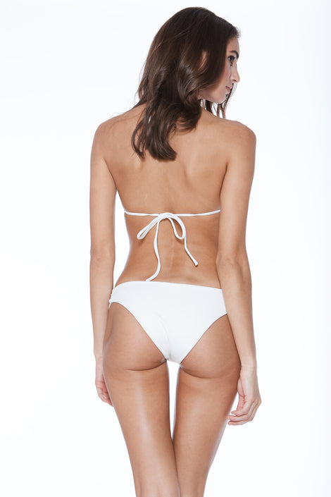 Bridget Bottom - White Rib