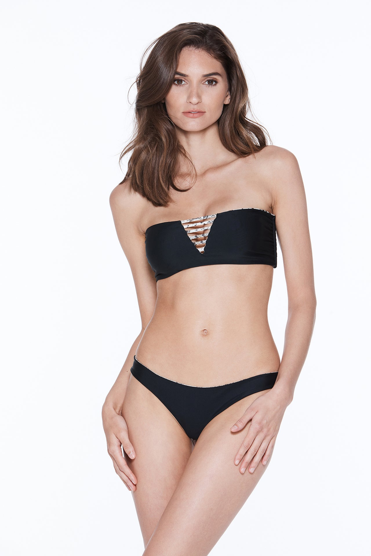 Luna Top - Snake/Black