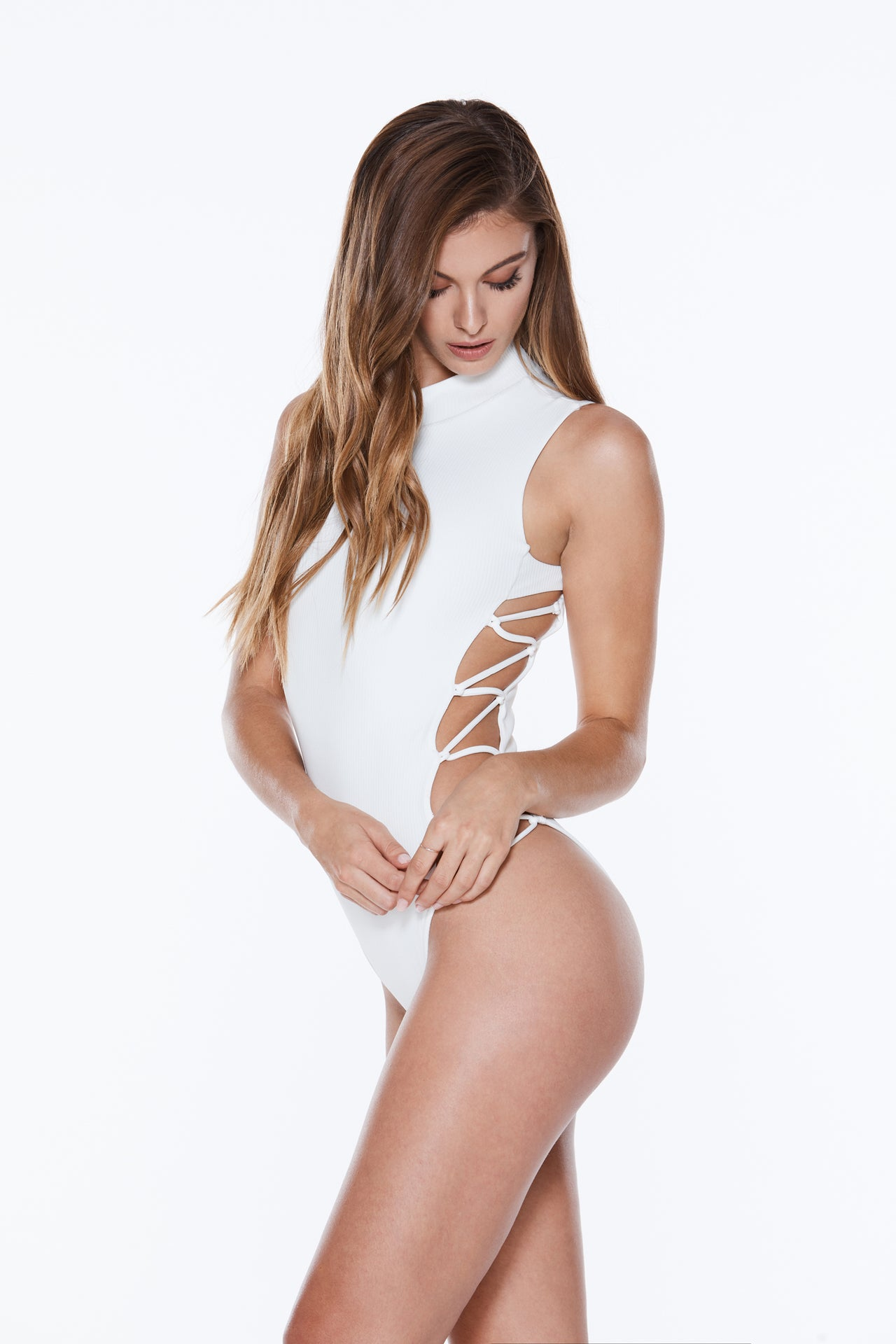 Dazzle Rash Guard - White Rib