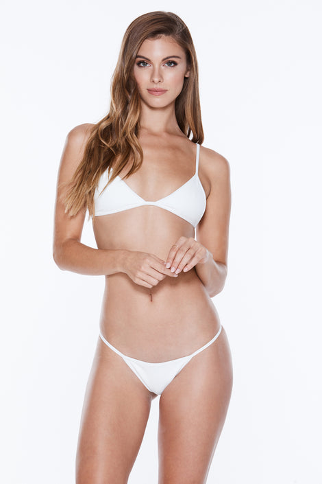 Low Tide Top - White Rib