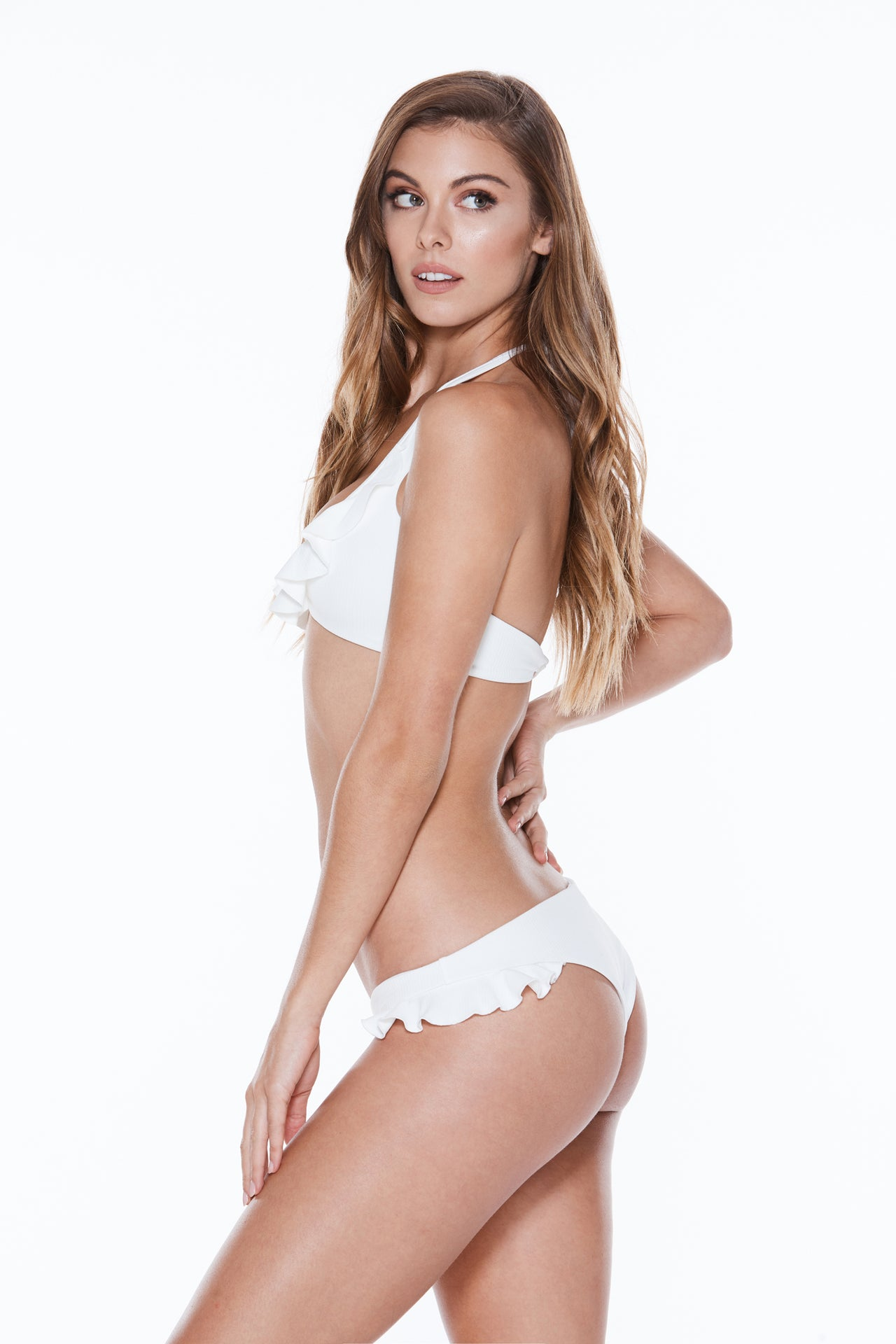 Peachy Keen Top - White Rib