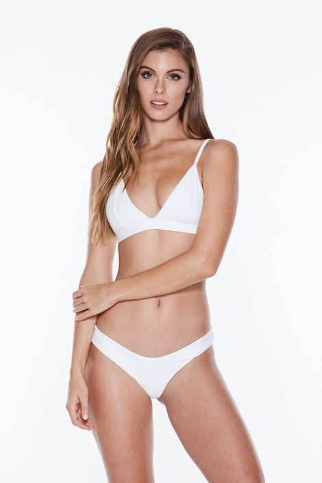 Banned Top - White Rib