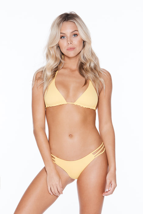 Rosa Top - Yellow Rib