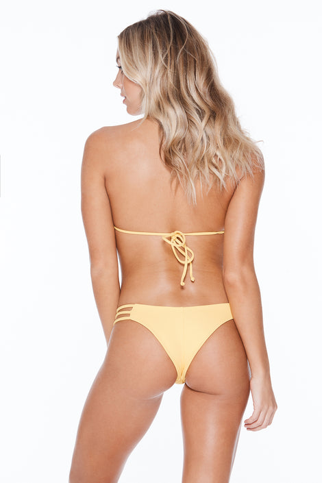 Camilla Bottom- Yellow Rib
