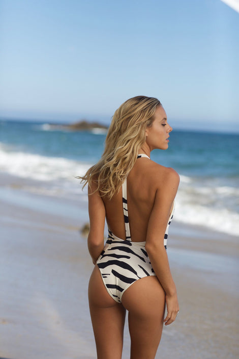 Body Gloved One Piece - Zebra