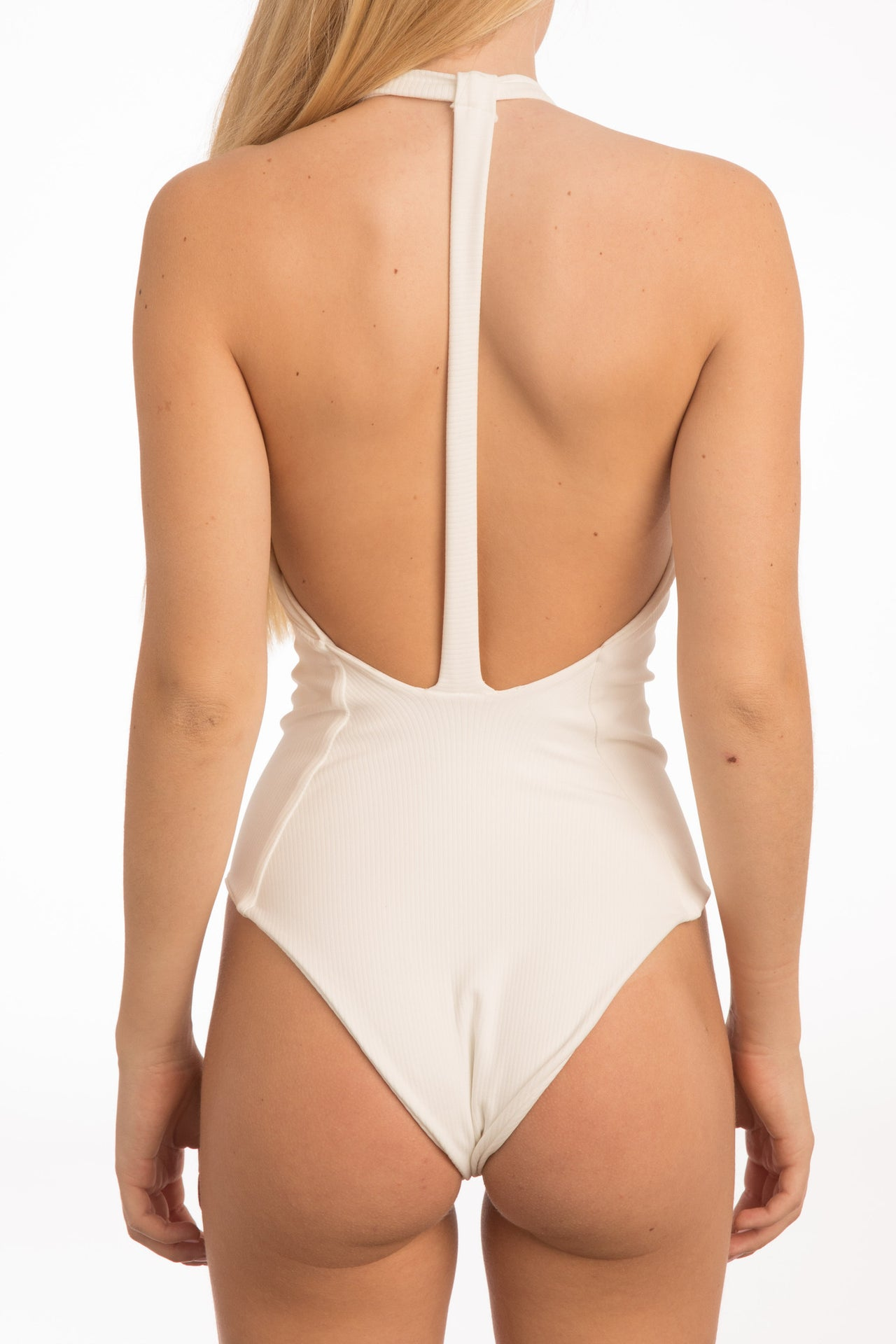 Body Gloved One Piece - White Rib