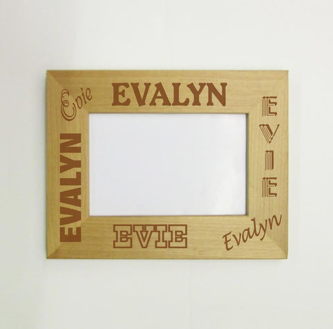 Name Collage Picture Frame