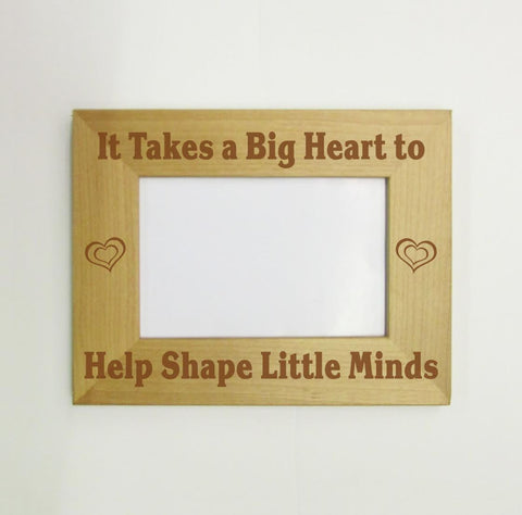 Big Hearts Shape Little Minds Picture Frame