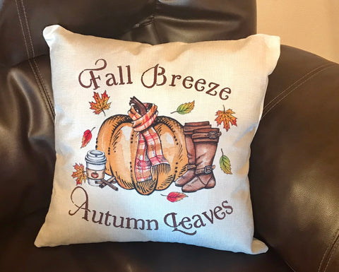 Fall Breeze Autumn Leaves Decorative Pillow