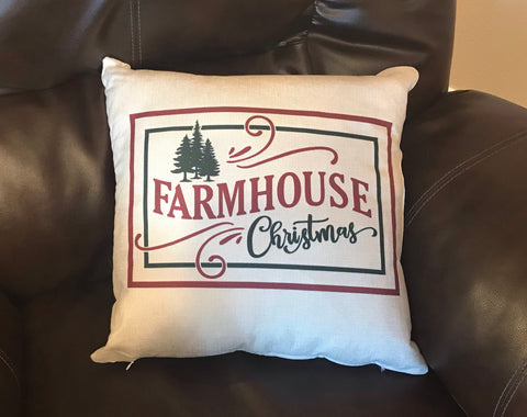 Farmhouse Christmas Decorative Pillow
