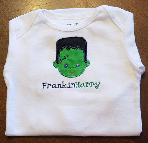 Personalized Frankin-Monster, Embroidered