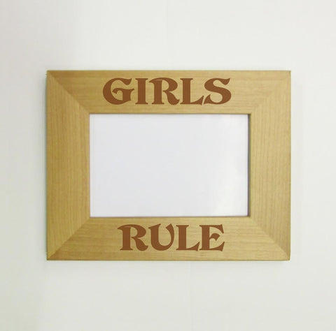 Girls Rule Picture Frame