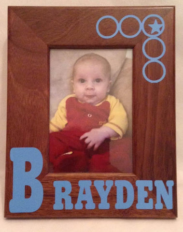 Baby Name Picture Frame, Vinyl