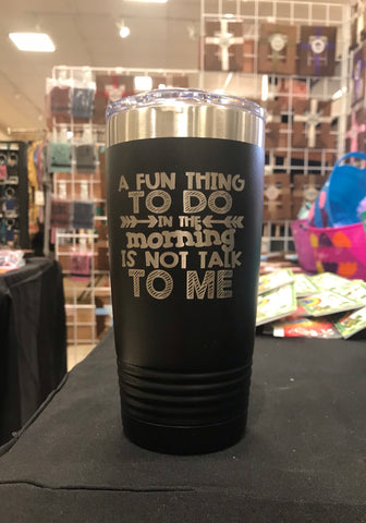 Not Talk to Me Polar Camel 20 oz Ringneck Tumbler