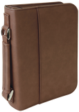 Leatherette Engraved Bible/Book Cover with Zipper and Handle