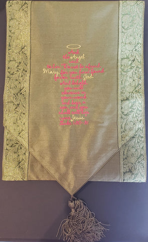 Bible Verse Table Runner, Embroidered