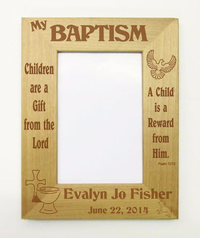 Baptism Picture Frame, Gift from the Lord