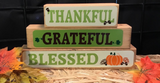 Thankful Greatful Blessed Family Block Set
