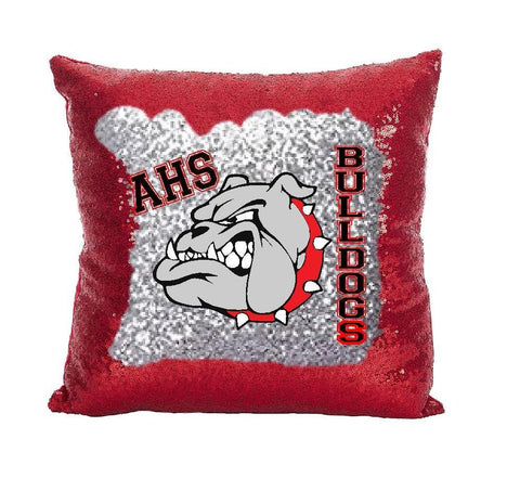 Bulldog Sequin Pillow Cover